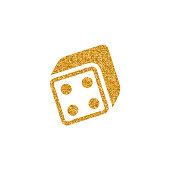 Gold Glitter Icon - Dice