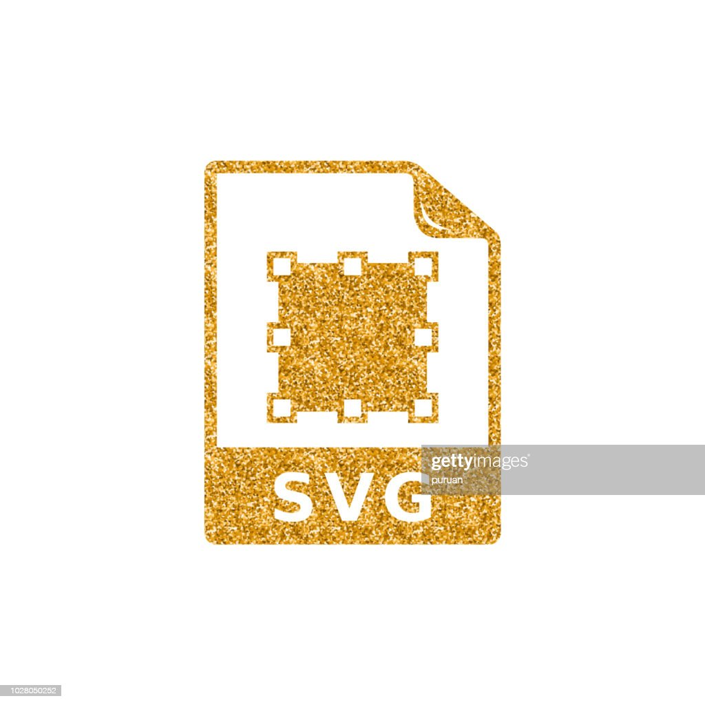 Gold Glitter Icon - SVG file