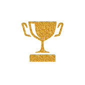 Gold Glitter Icon - Trophy