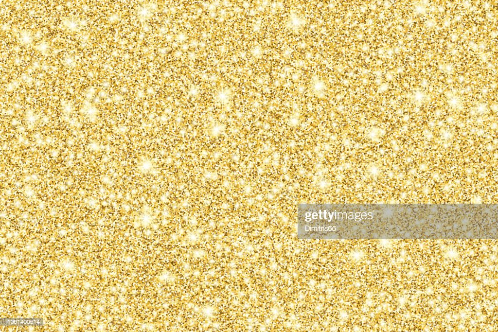 Gold glitter shiny vector background