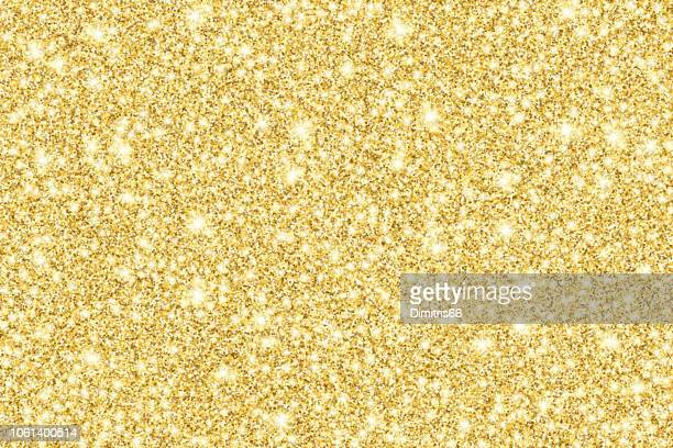 gold glitter shiny vector background - yellow stock illustrations