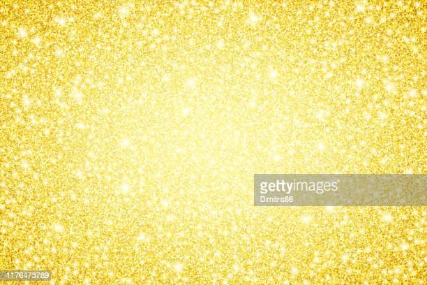 gold glitzer glänzend vektor hintergrund - flitter stock-grafiken, -clipart, -cartoons und -symbole