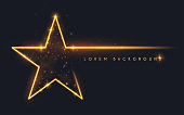 Gold glitter star shape background
