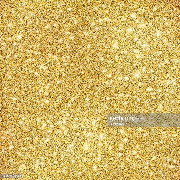 gold glitter texture background - gold colored stock illustrations