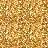 Gold Glitter Texture, Seamless Sequins Pattern.