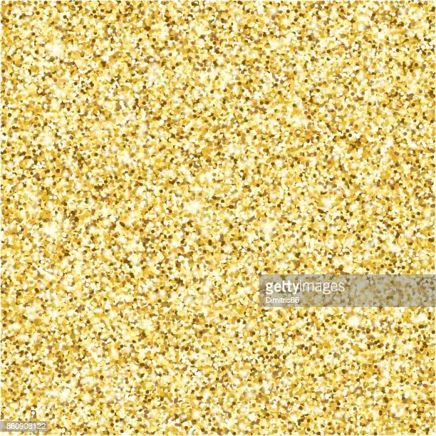ilustraciones, imágenes clip art, dibujos animados e iconos de stock de fondo de vector de textura de glitter oro - gold colored