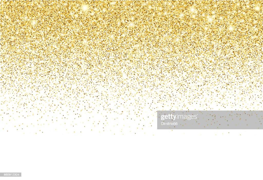 Gold glitter texture vector gradient background : stock illustration