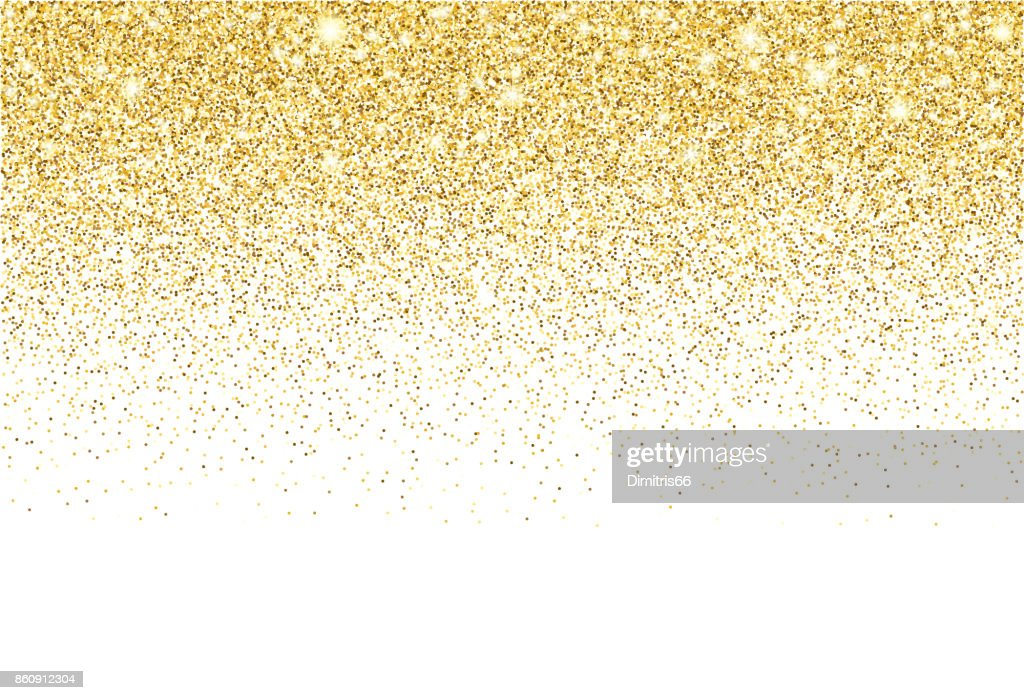 Gold glitter texture vector gradient background