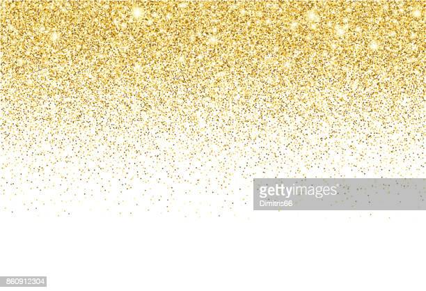 gold glitter texture vector gradient background - gold coloured stock illustrations