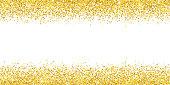 Gold glitter wide border backround. Vector