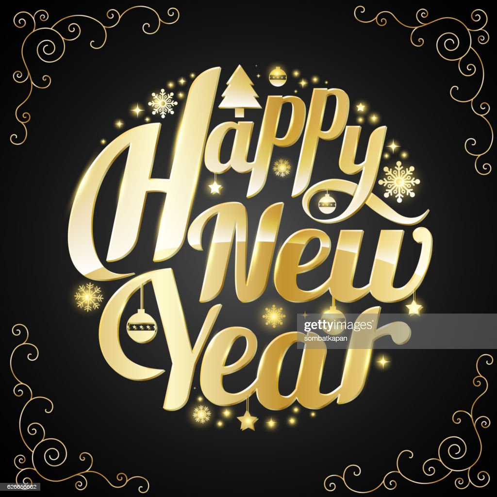 Happy New Year Lettering 100