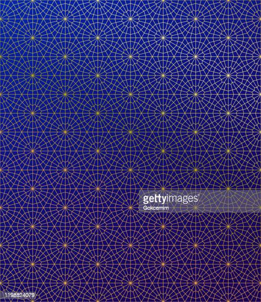 gold islamic pattern on gradient background. - ramadan stock illustrations