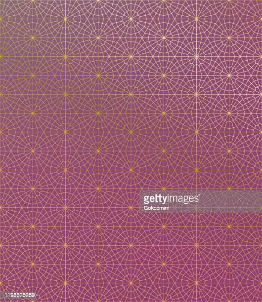 gold islamic pattern on gradient background. - arabesque stock illustrations
