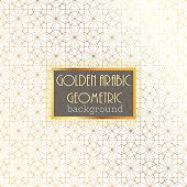 Gold Islamic Pattern on White Background