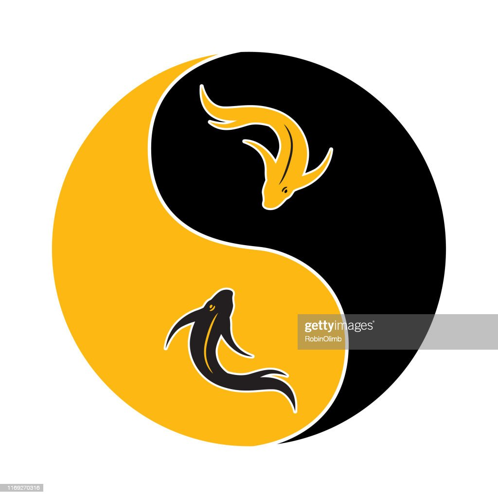 Gold Koi Fish Yin Yang Icon High Res Vector Graphic Getty Images