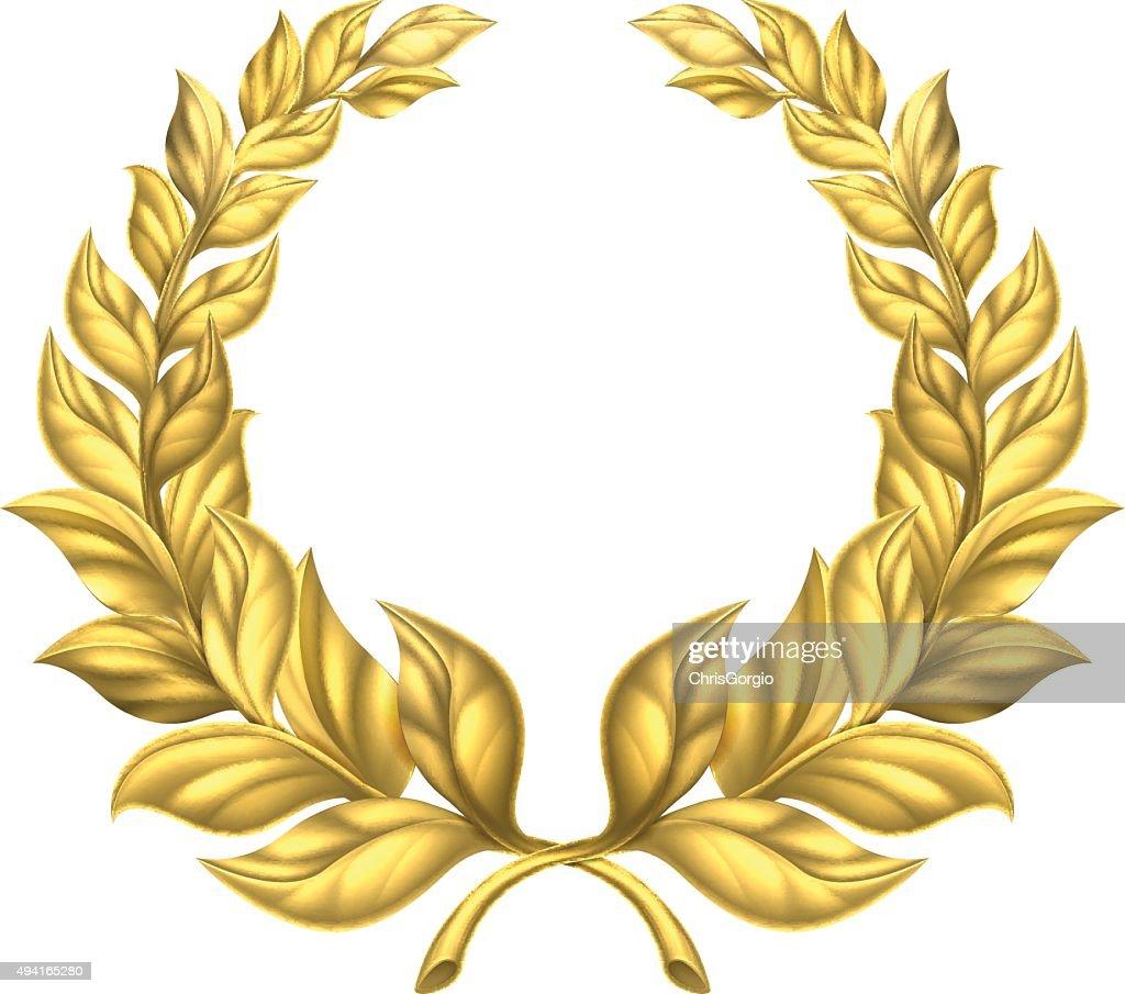 Gold Laurel Wreath