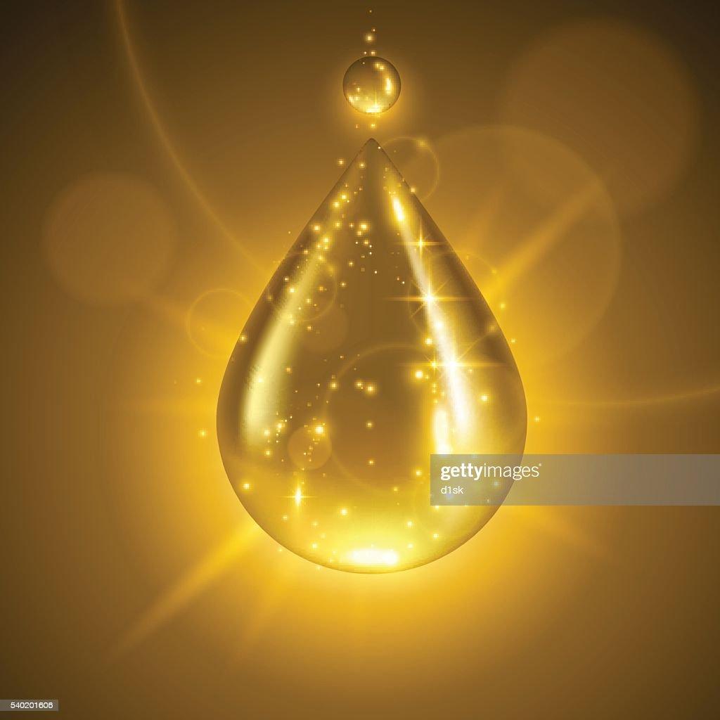 Gold liquid drop