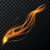 Gold magic light effect