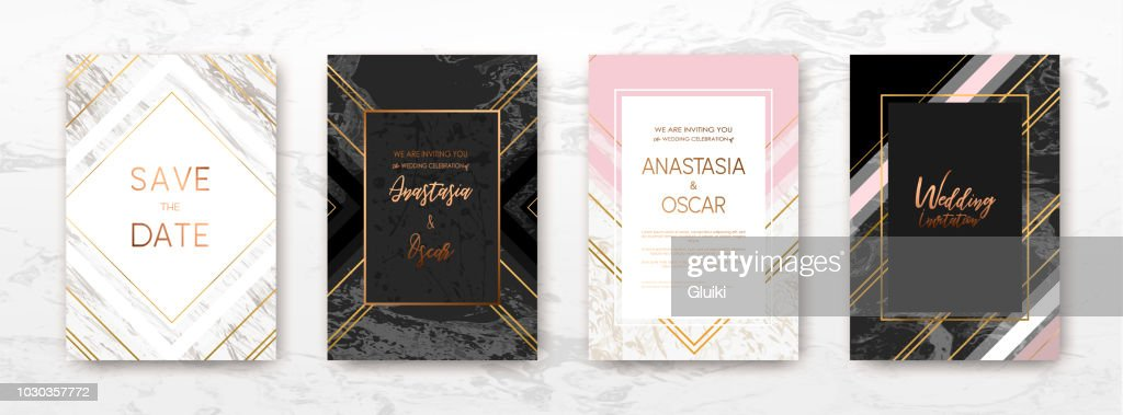 Gold marble template, artistic covers design.