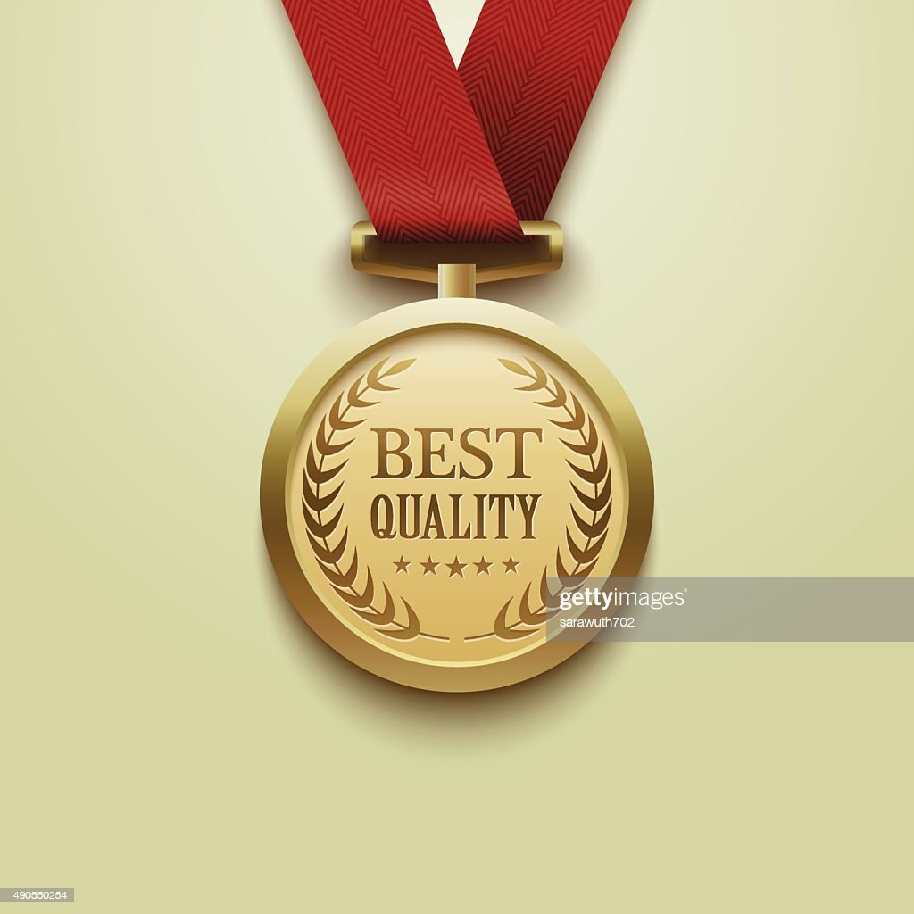 Gold medal best quality.vector