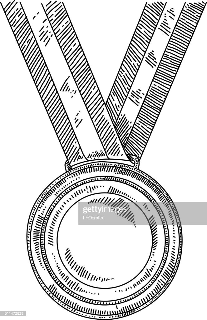 Gold medal Drawing : stock illustration