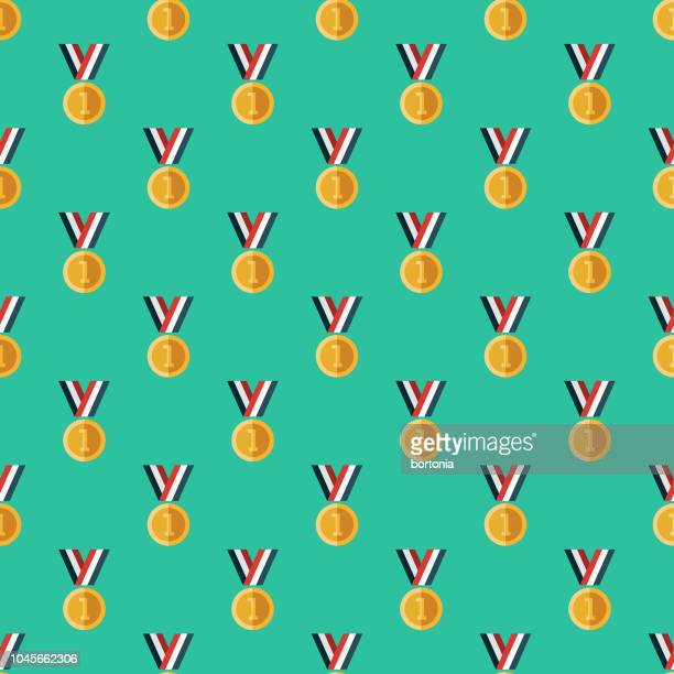 Gold Medal Sports Seamless Pattern