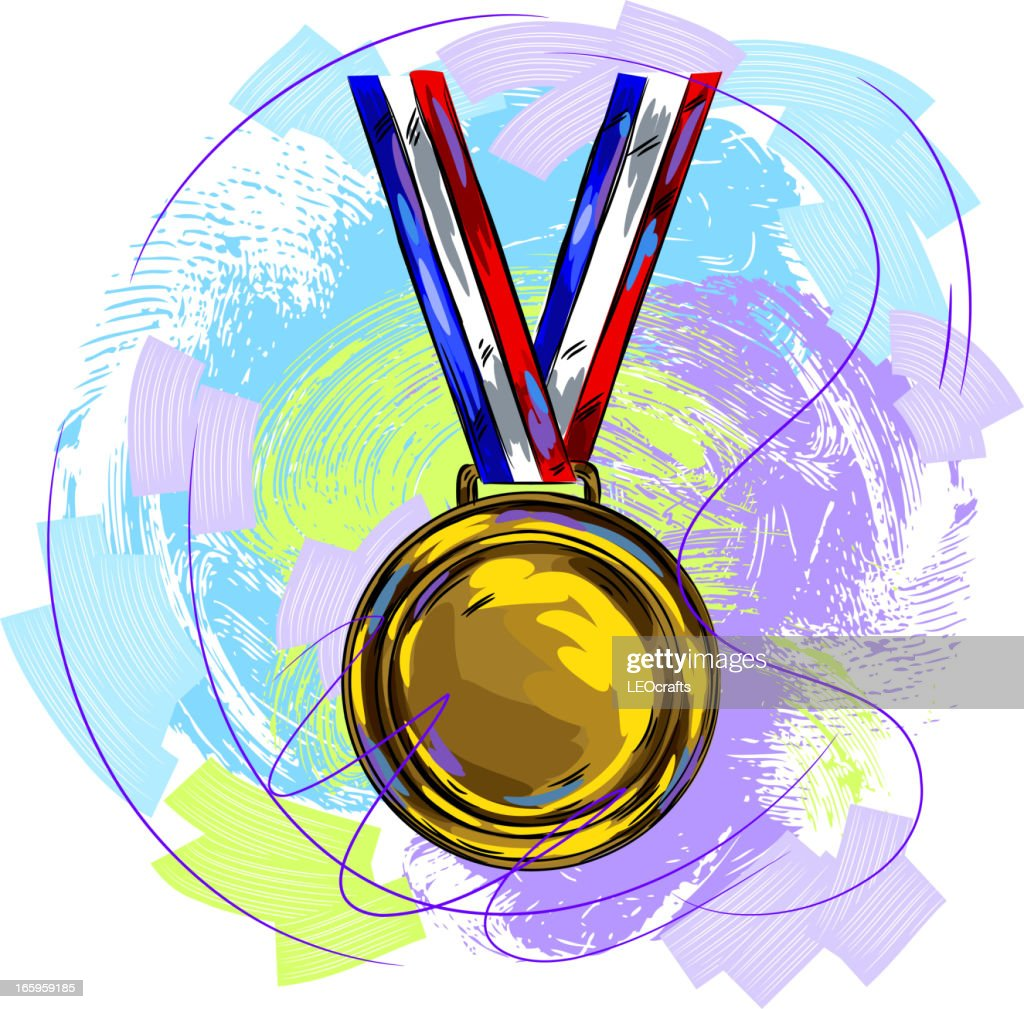 Gold Medal : stock illustration