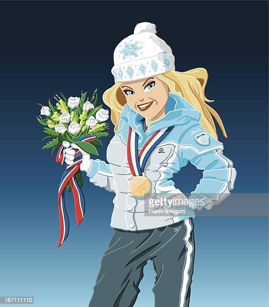 Gold Medal Winner Girl Winter