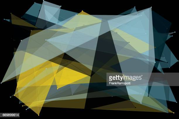 Goldmine Polygon Muster Horizontal