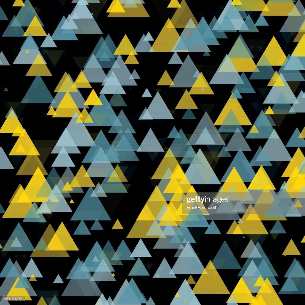 Goldmine Dreieck geometrische grafisches Muster : Stock-Illustration