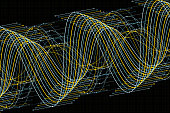 Gold Mine Vector Sine Wave Graph Pattern Horizontal