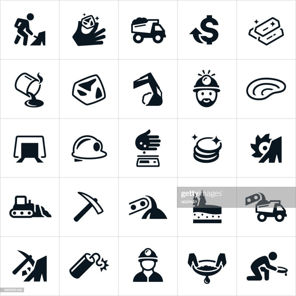 Gold Mining Icons