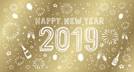 gold New Year's card 2019 - gettyimageskorea