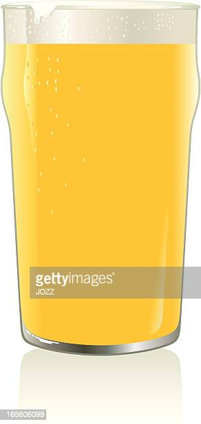 gold pint - lager stock illustrations, clip art, cartoons, & icons