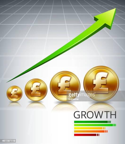 ilustrações, clipart, desenhos animados e ícones de gold libra de aumentar o crescimento - reforma assunto