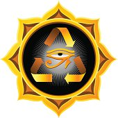 Gold Reincarnation Mandala with Horus Eye