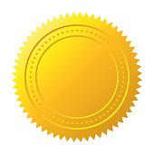 Gold seal. Gold medal vector