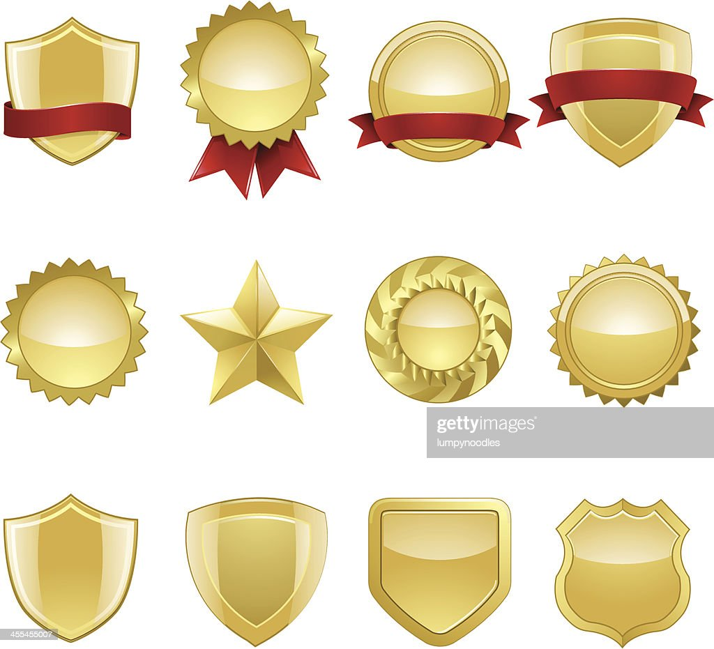 Gold Seals and Badges