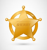 Gold Sheriff Badge