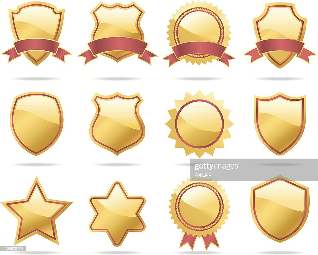 Gold Shields and Badges