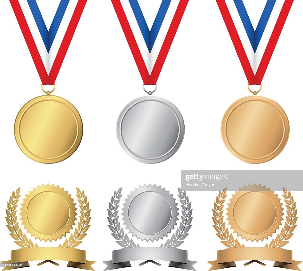 Gold, silver and bronze awards and medals