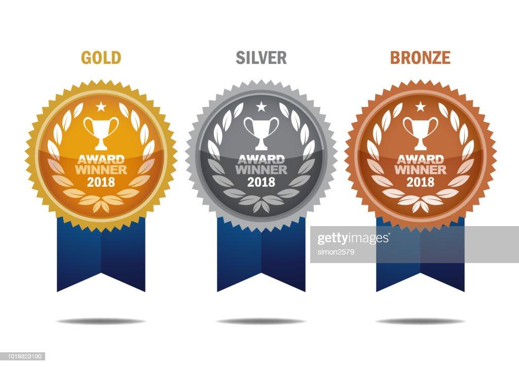 ゴールド、シルバー、ブロンズ賞受賞 : ストックイラストレーション