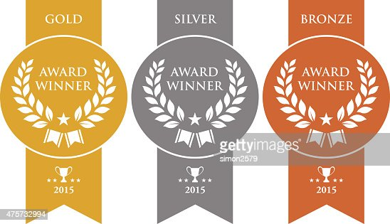 gold silver and bronze winner medals vector art getty images