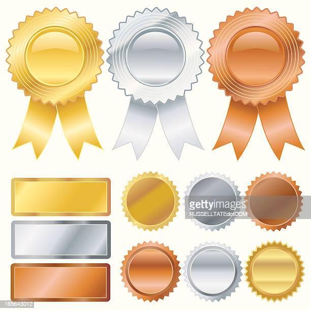 Gold, Silver, Bronze Medallions
