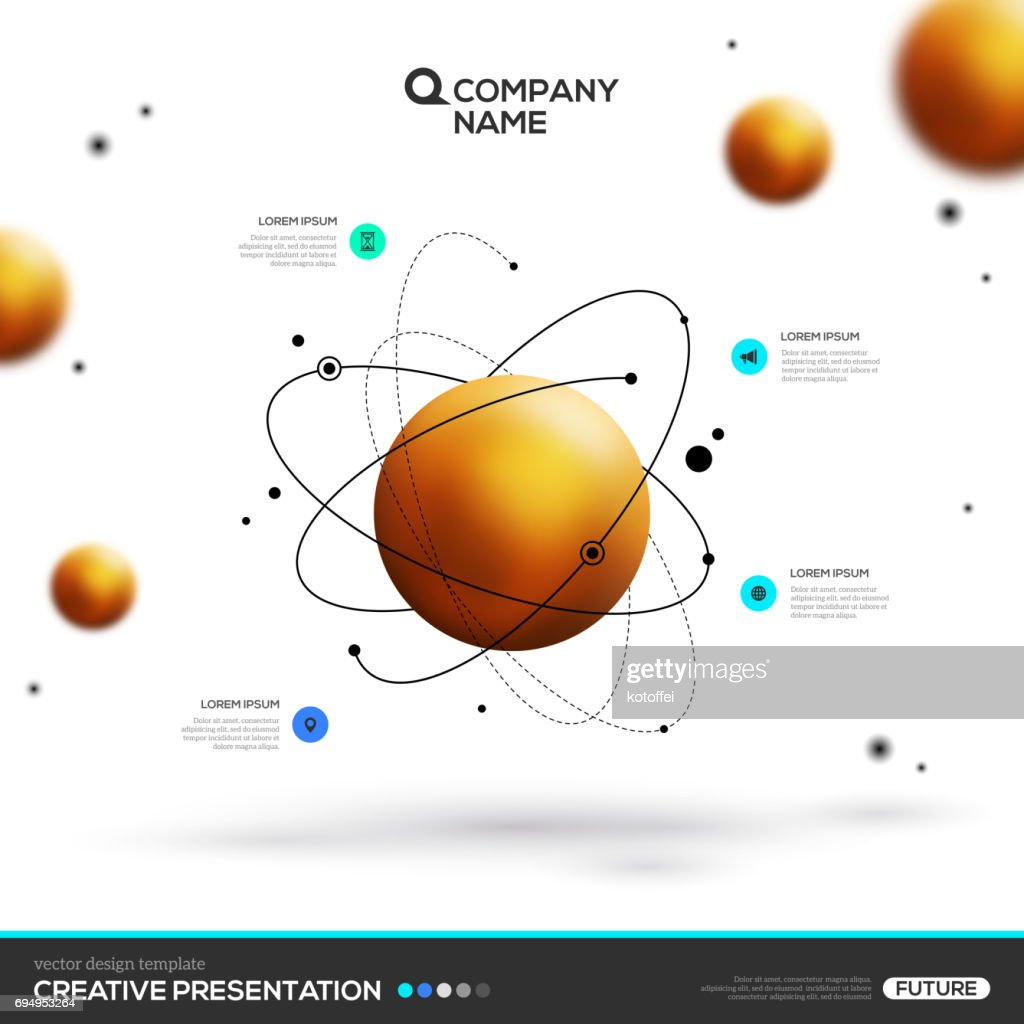 gold sphere particles and atomic structure