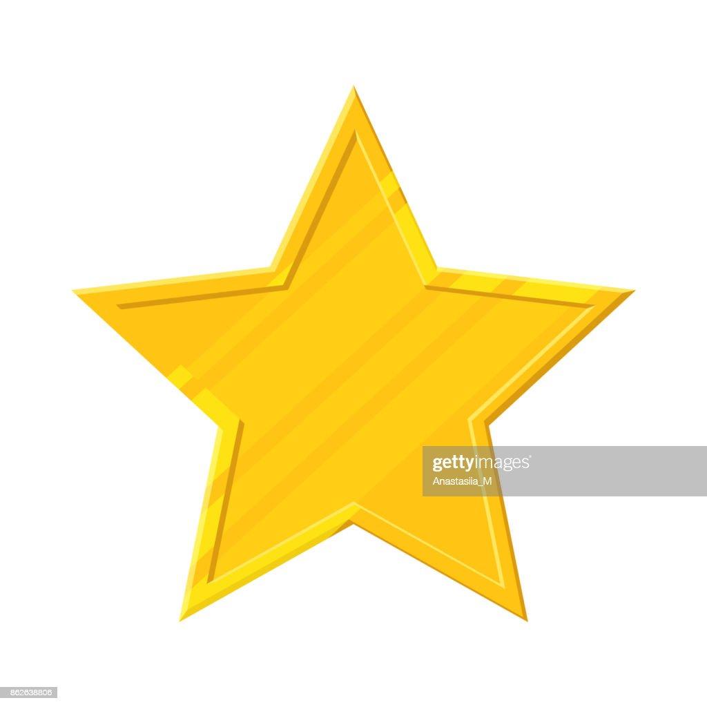 Gold star icon