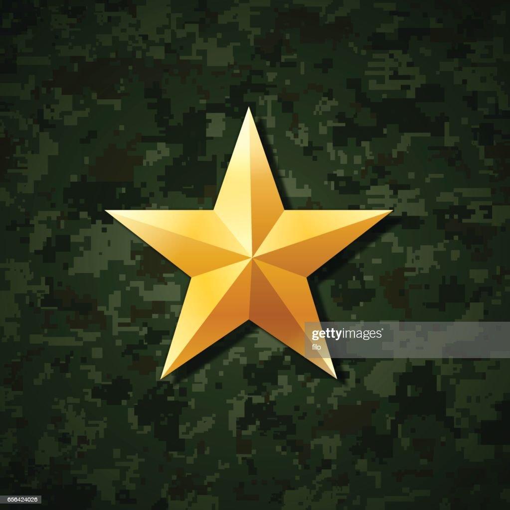 Gold Star : stock illustration