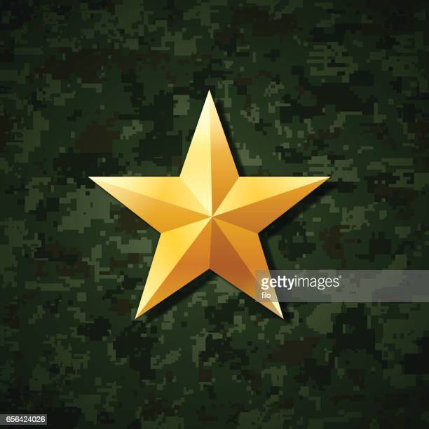 gold star - military stock illustrations, clip art, cartoons, & icons