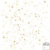 Gold stars. Confetti celebration,