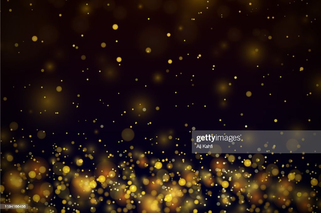 Gold stars dots scatter texture confetti background : stock illustration